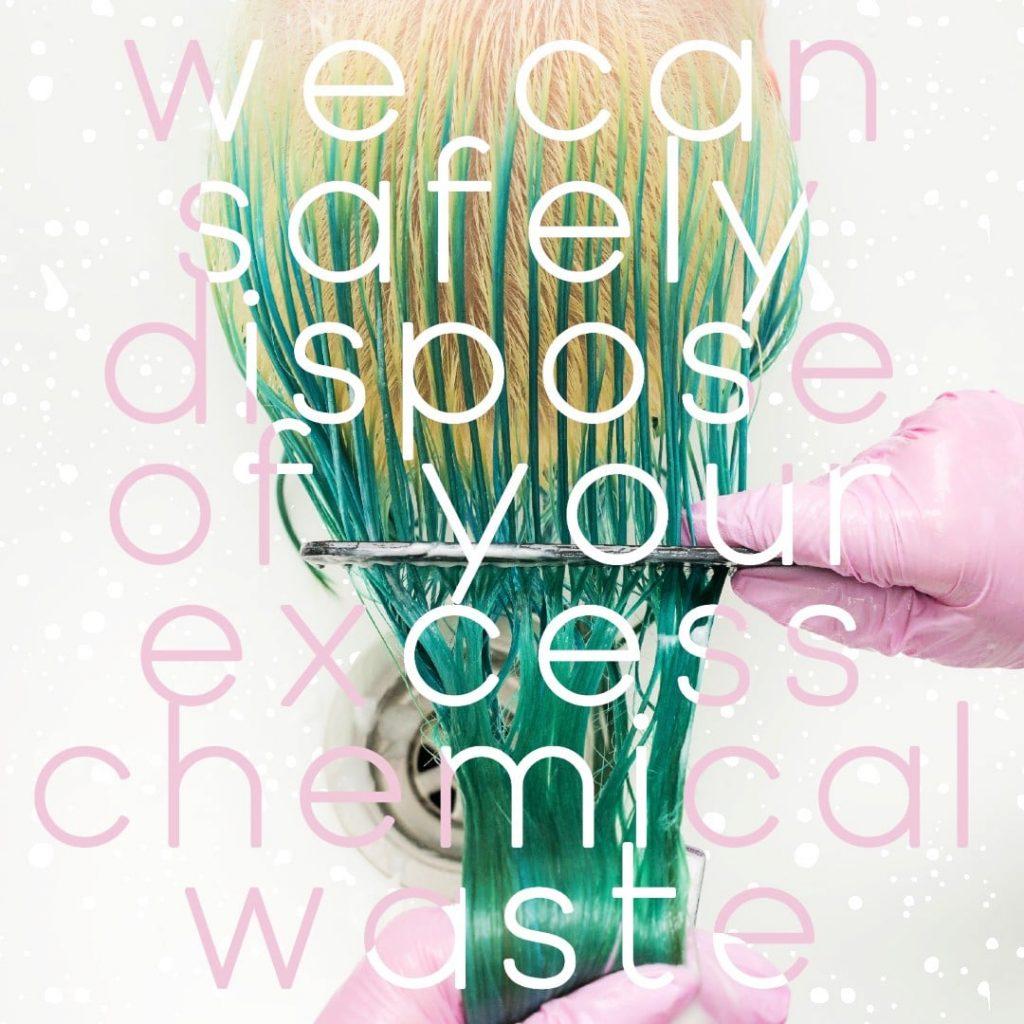 Dispose of hair chemicals